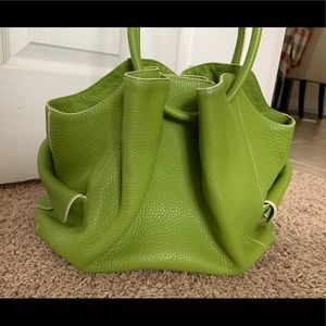 Cole Haan Lime Leather Pebble Tote